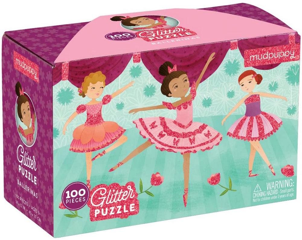 Ballerinas Glitter Puzzle: 100 Pieces