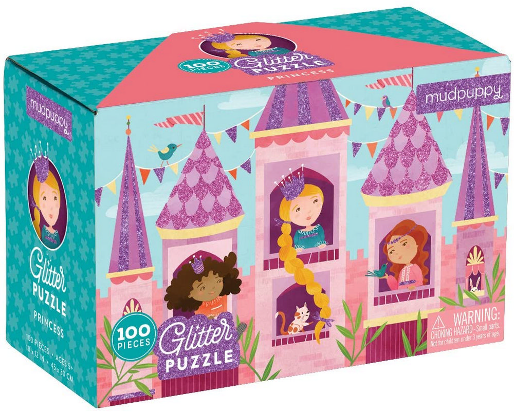 Princess Glitter Puzzle: 100 Pieces