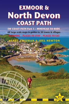 Trailblazer Exmoor & North Devon Coast Path: SW Coast Path Part 1 - Minehead to Bude - 68 large-scale maps & guides to 30 towns