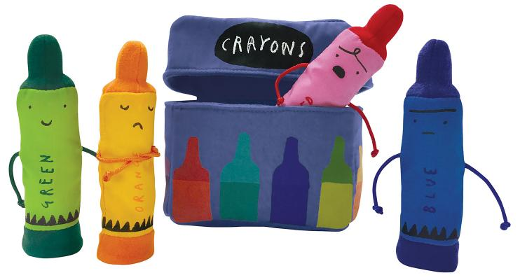 The Day the Crayons Quit Finger Puppet Playset: 5 Inch Puppets Each