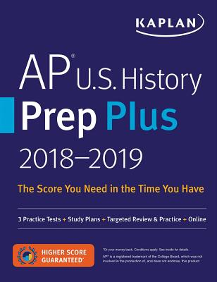 Kaplan AP U.S. History Prep Plus 2018-2019