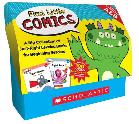First Little Comics Guided Reading Levels A & B: A Big Collection of Just-right Leveled Books for Beginning Readers