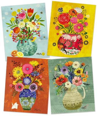 Floral Vases Art Prints: Ready to Frame