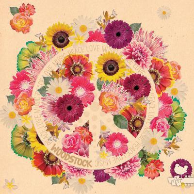 Woodstock Flower Power Journal: Unlined