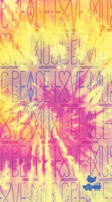 Woodstock Peace, Love, Music Journal: Dot Journal