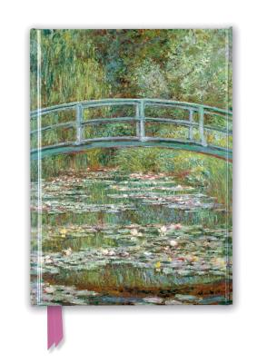 Claude Monet Foiled Journal: Bridge over a Pond of Water Lilies