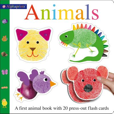 Alphaprints Animals Flash Card Book: A first animal book with 20 press-out flash cards