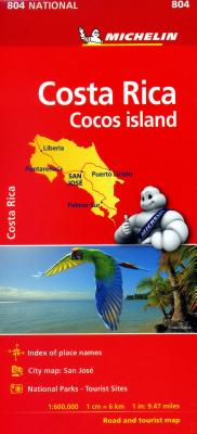 Michelin National Map Costa Rica Cocos Island