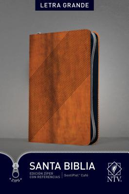 Santa Biblia: Nueva Traduccion Viviente, SentiPiel Café, Edición Zíper, Letra Grande, Con Referencias
