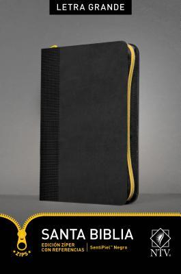 Santa Biblia / Holy Bible: Nueva Traduccion Viviente, Negro, SentiPiel, Edición Zíper Con Referencias
