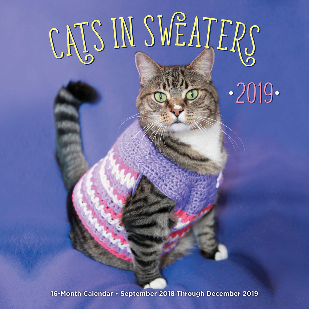 Cats in Sweaters 2019 Calendar: September 2018 Through December 2019