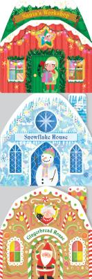 Santa Street Chunky Set: Santa's Workshop, Snowflake House, Gingerbread House