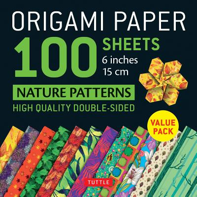 Origami Paper Nature Patterns 6 Inches - 15cm: High Quality Double-Sided