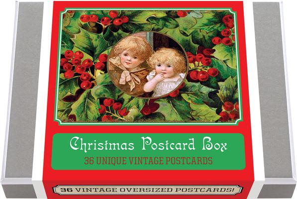 Christmas Postcard Box - 36 Unique Vintage Postcards
