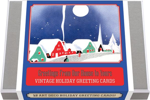 Greetings from Our House to Yours Vintage Holiday Greeting Cards