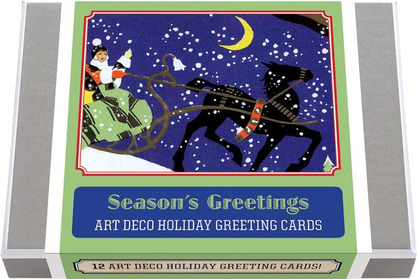 Season's Greetings - Art Deco Christmas Greeting Cards