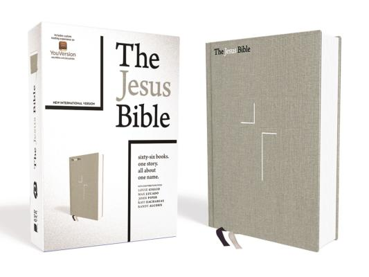 Holy Bible: The Jesus Bible, New International Version, Gray Linen, Comfort Print