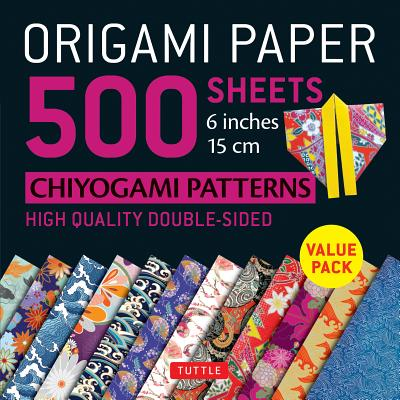Origami Paper Chiyogami Patterns 500 Sheets 6 inches 15cm