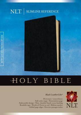Holy Bible: New Living Translation, Black LeatherLike, Slimline Reference