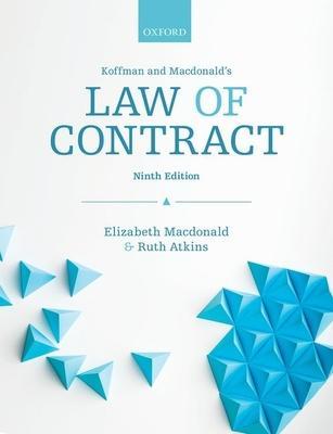 Koffman & Macdonald's Law of Contract