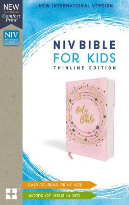 Holy Bible: New International Version, Pink/Gold, Flexcover, Bible for Kids: Thinline Edition
