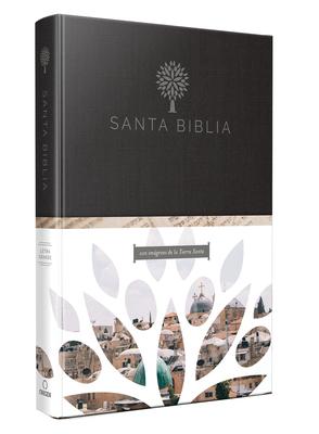 Santa Biblia / Holy Bible: Reina Valera Revisada 1960; ultra fina, letra grande con hermosas imágenes de la Tierra Santa / Reina