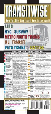 Michelin Transitwise New York, Long Island, New Jersey Transit Map: Lirr, NYC Subway, Metro North Trains, NJ Transit, Path Train