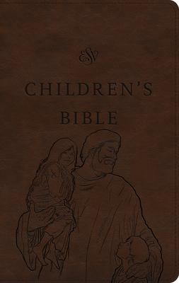 Holy Bible: English Standard Version, Children's Bible, Brown, Trutone, Let the Children Come Design