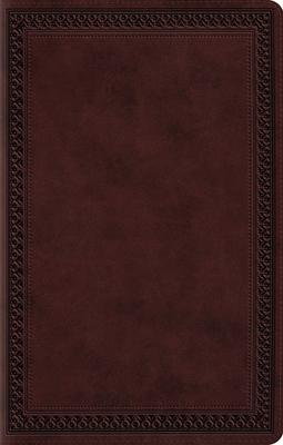 Holy Bible: English Standard Version, Premium Gift Bible, Mahogany, Trutone, Border Design