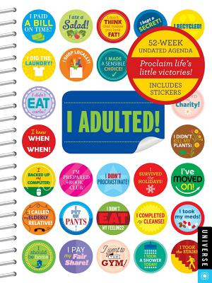I Adulted! Agenda Undated: Includes Stickers