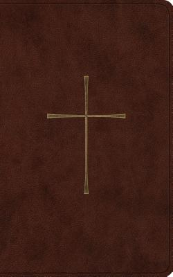 Holy Bible: English Standard Version, Vest Pocket New Testament With Psalms and Proverbs, Dark Brown, Trutone, Cross Design