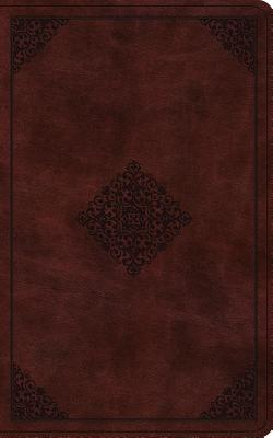 Holy Bible: English Standard Version, Vest Pocket New Testament With Psalms and Proverbs, Burgundy, Trutone, Ornament Design