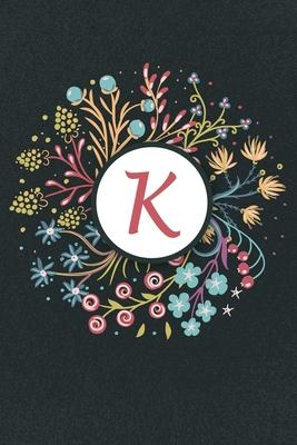 K: Initial Monogram Notebook K, K Monogram Journal K, K Monogram Notepad K, 100 Pages with Glossy Cover