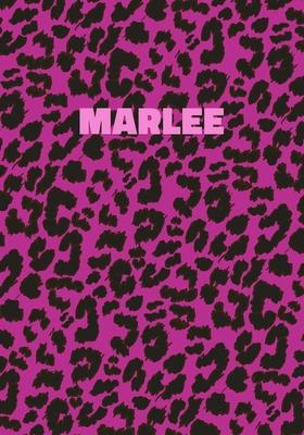 Marlee: Personalized Pink Leopard Print Notebook (Animal Skin Pattern). College Ruled (Lined) Journal for Notes, Diary, Journa