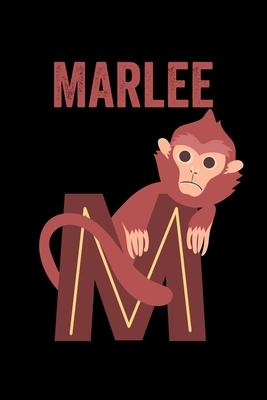 Marlee: Animals Coloring Book for Kids, Weekly Planner, and Lined Journal Animal Coloring Pages. Personalized Custom Name Init