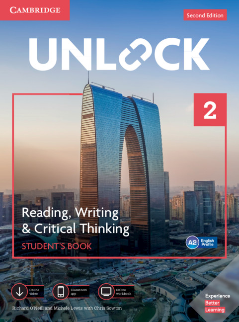 Unlock Level 2 Reading, Writing, & Critical Thinking Student's Book, Mob App and Online Workbook w/ Downloadable Video