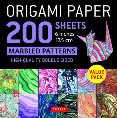 Origami Paper 200 Sheets Marbled Patterns 6 (15 CM): Tuttle Origami Paper: High-Quality Double Sided Origami Sheets Printed with 12 Different Designs