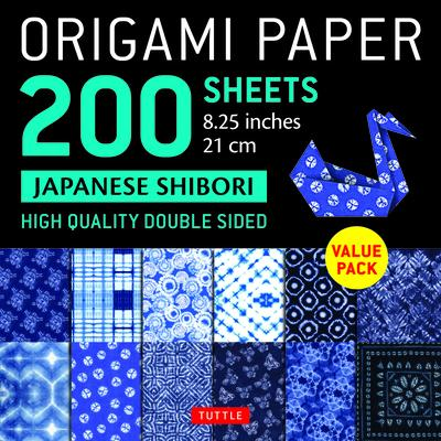 Origami Paper 200 Sheets Shibori Patterns 8.25 ( CM): Tuttle Origami Paper: High-Quality Double Sided Origami Sheets Printed with 12 Different Designs