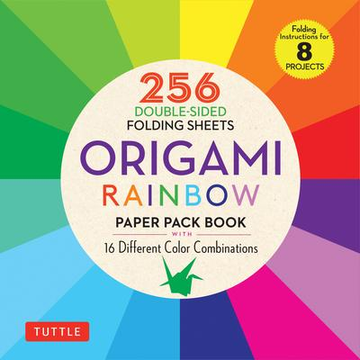 Origami Rainbow Colors Paper Pack Book: 16 Different Color Combinations