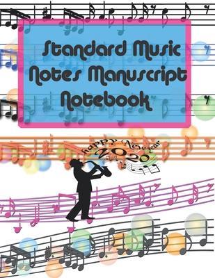 Standard Music Notes Manuscript Notebook: 13 Stave Manuscript Notebook: 96 Pages Extra Wide Staff Music Paper 8.5 x 11 inches> White paper. Matte fini