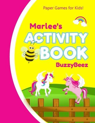 Marlee''s Activity Book: 100 + Pages of Fun Activities - Ready to Play Paper Games + Storybook Pages for Kids Age 3+ - Hangman, Tic Tac Toe, Fo