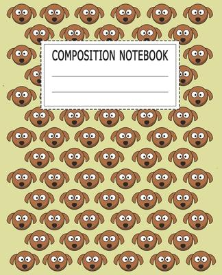 Composition Notebook: Adorable Dog Themed Wide Ruled Composition Notebook For All Dog Lovers
