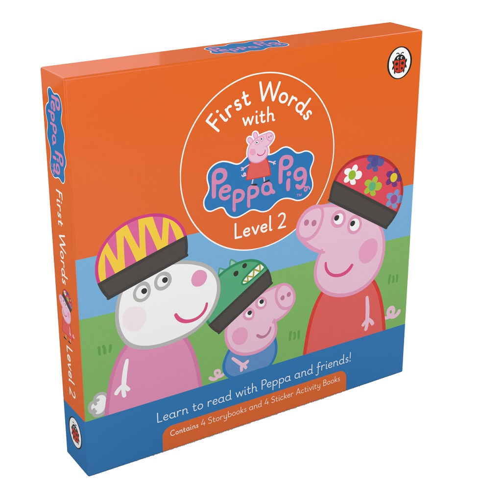 First Words with Peppa Level 2 Pack (4 storybooks + 4 sticker activity books)