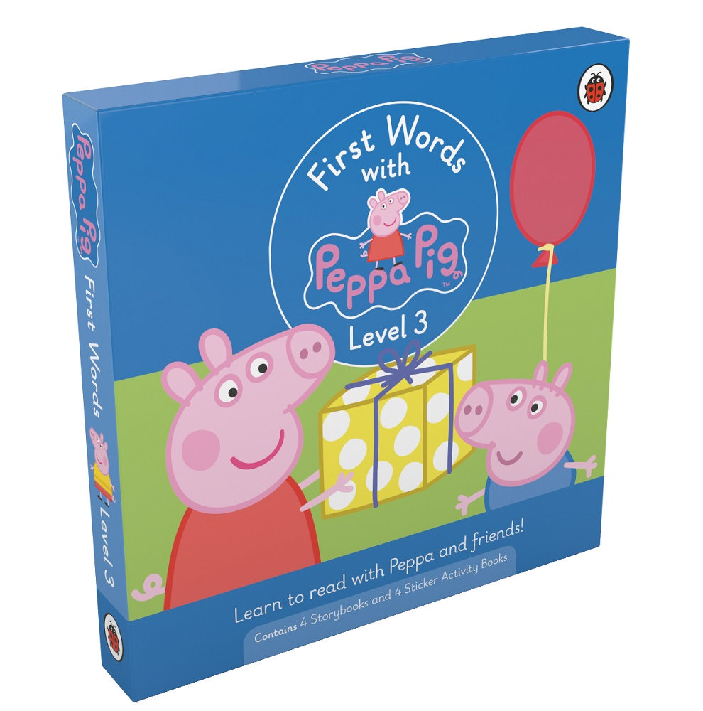First Words with Peppa Level 3 Pack (4 storybooks + 4 sticker activity books)