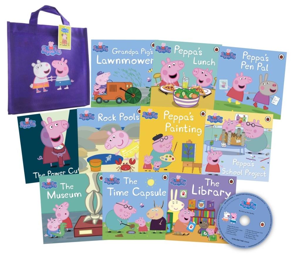 Peppa Purple Bag (10 Books+CD)