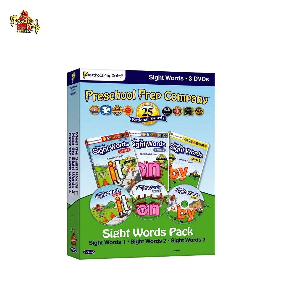 Preschool Prep 幼兒美語常見字DVD 3片組