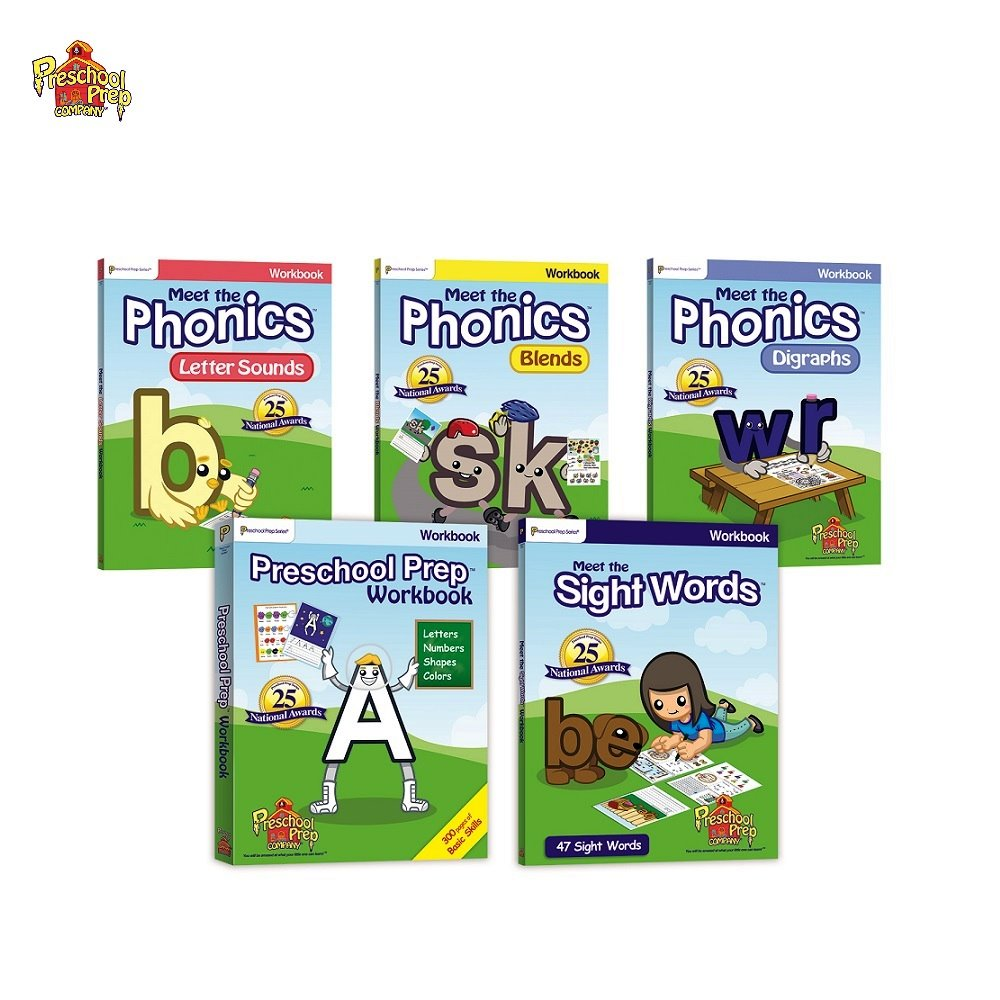 Preschool Prep 幼兒美語練習本5本組