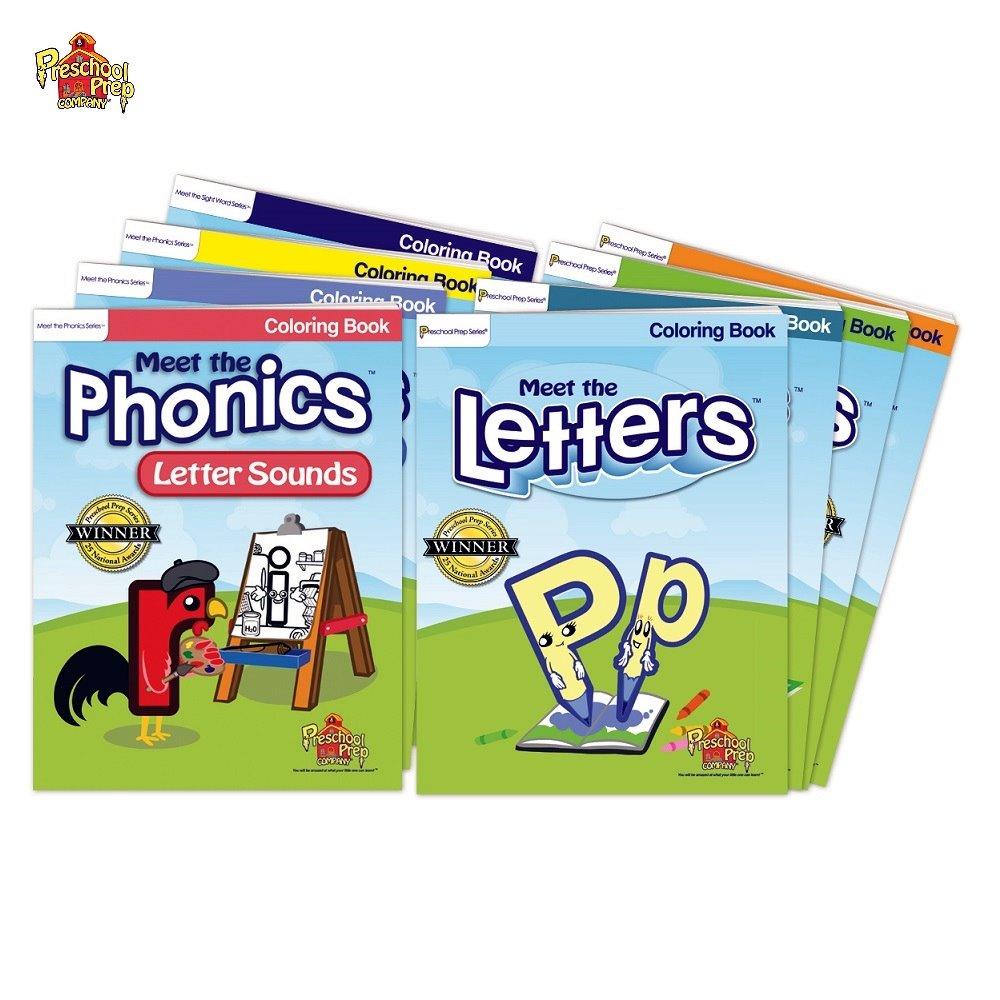 Preschool Prep 幼兒美語著色本8本組