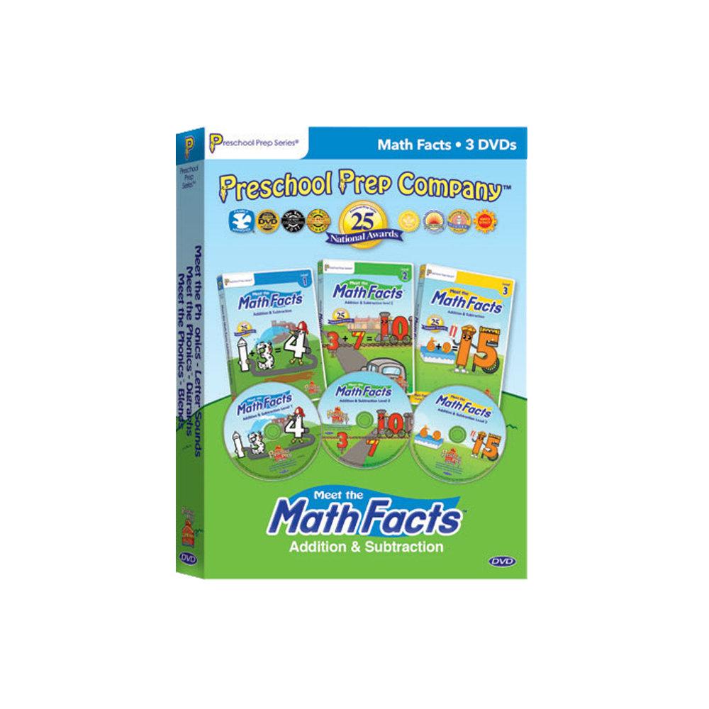 Preschool Prep 幼兒美語數學DVD 3片組