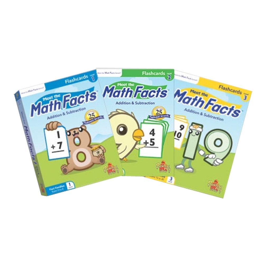 Preschool Prep 幼兒美語數學閃卡3盒組